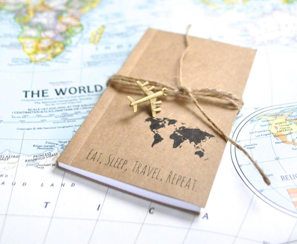<p>Trip highlights can be captured forever in a <span>traveler's notebook</span> ($11).</p>