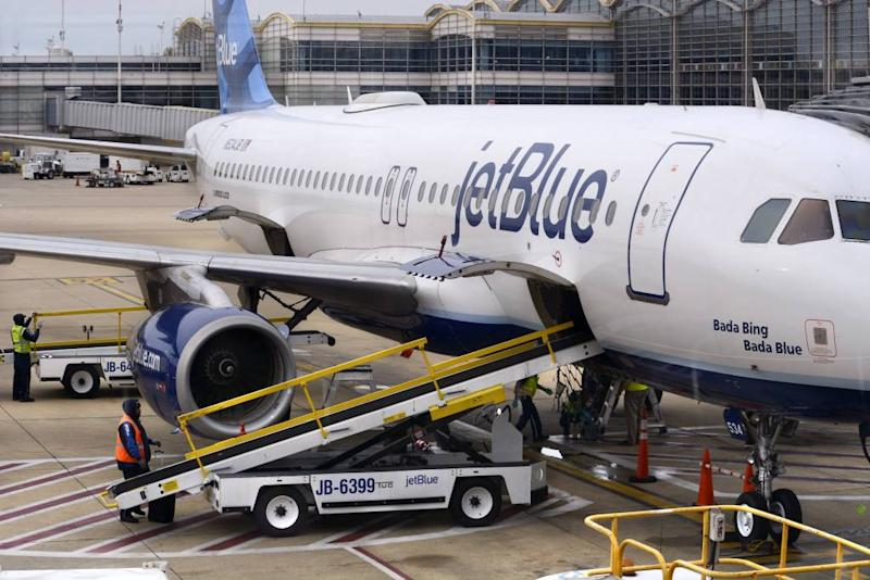 The airline is being credited with saving the dog's life.