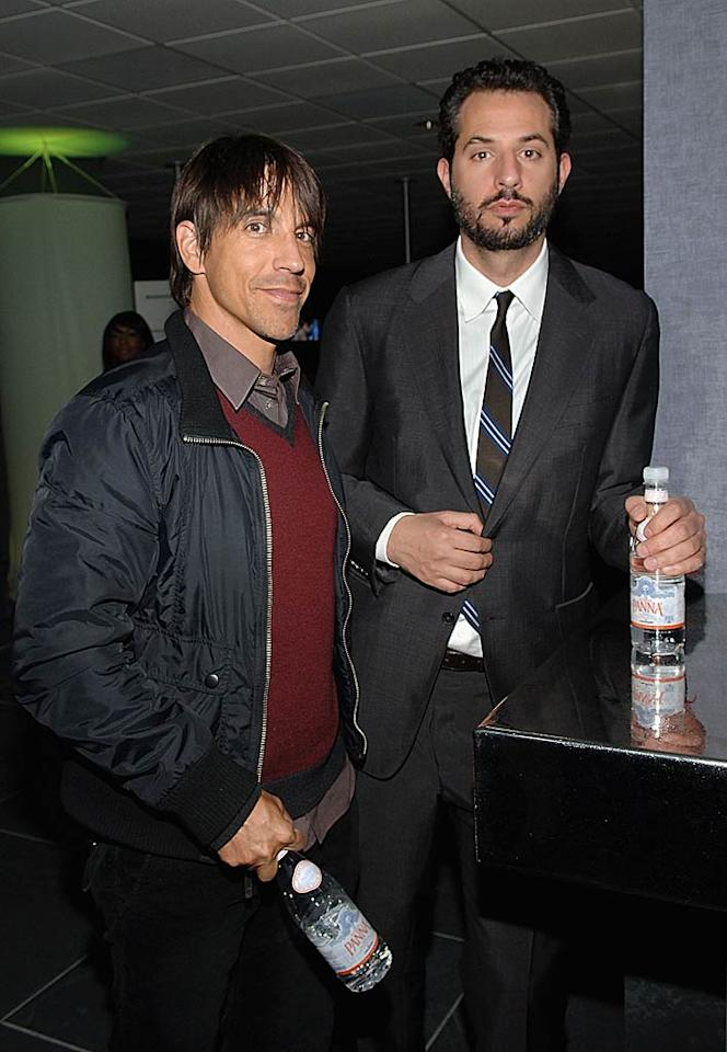 "Red Hot Chili Peppers frontman Anthony Kiedis and Madonna's business partner Guy Oseary arrive at the club to show their support for Jay-Z. Jamie McCarthy/<a href=""http://www.wireimage.com"" target=""new"">WireImage.com</a> - December 31, 2007"