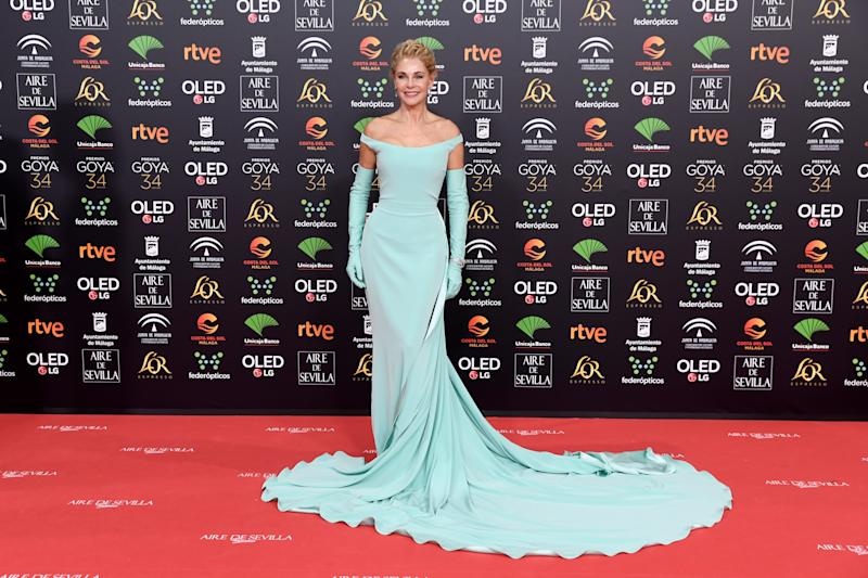 MALAGA, SPAIN - JANUARY 25: Belen Rueda attends the Goya Cinema Awards 2020 during the 34th edition of the Goya Cinema Awards at Jose Maria Martin Carpena Sports Palace on January 25, 2020 in Malaga, Spain. (Photo by Carlos Alvarez/Getty Images)