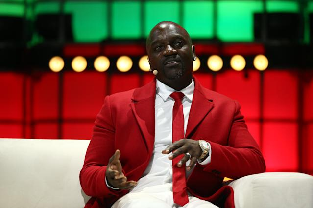 Akon (Photo By Vaughn Ridley/Sportsfile for Web Summit via Getty Images)