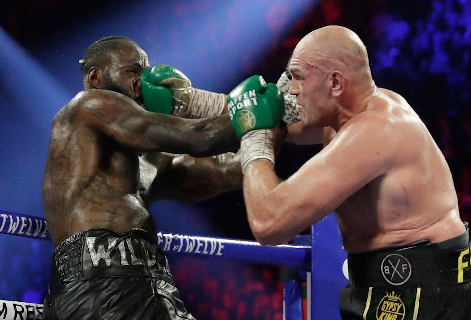 <p>Tyson Fury defeated Deontay Wilder in 2020 after the pair's 2018 draw</p> (AP)
