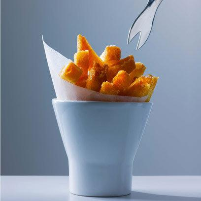 Chips in white bowl