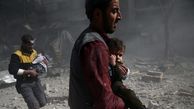 A renewed onslaught of bombing in Syria's besieged Eastern Ghouta enclave has wreaked havoc in the region, killing nearly 200 people in a matter of days and shattering cease-fire negotiations.
