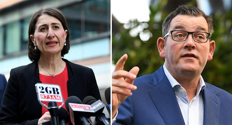Gladys Berejiklian and Daniel Andrews have insisted they will move ahead of federal government advice if needs be.