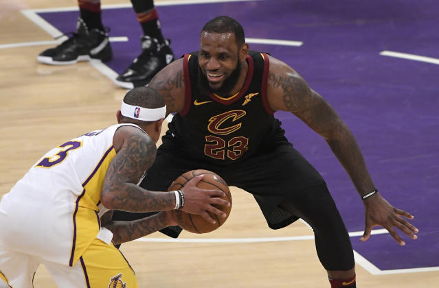 LeBron James loomed large in L.A. (AP)