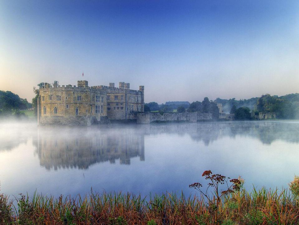 """<p>Note to self: If the zombie apocalypse ever hits, run to <a href=""""https://www.leeds-castle.com"""" rel=""""nofollow noopener"""" target=""""_blank"""" data-ylk=""""slk:Leeds Castle"""" class=""""link rapid-noclick-resp"""">Leeds Castle</a> in Kent, England. The former home of King Henry VIII sits on its own little private island.</p>"""