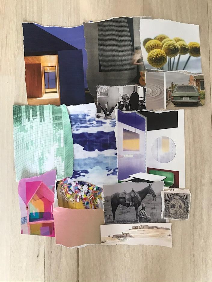 """<div class=""""caption""""> Shanan Campanaro, the founder of New York textile design studio Eskayel, has been staying creatively busy with collaging. </div> <cite class=""""credit"""">Image: Courtesy of Shanan Campanaro</cite>"""