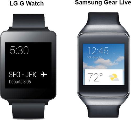 LG G and Samsung Gear Live watches