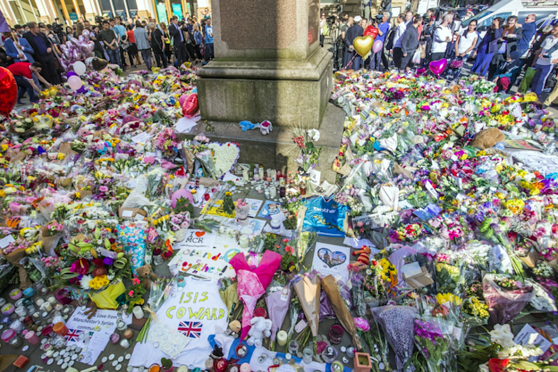 A memorial following the Manchester Arena attack. Photo: AAP