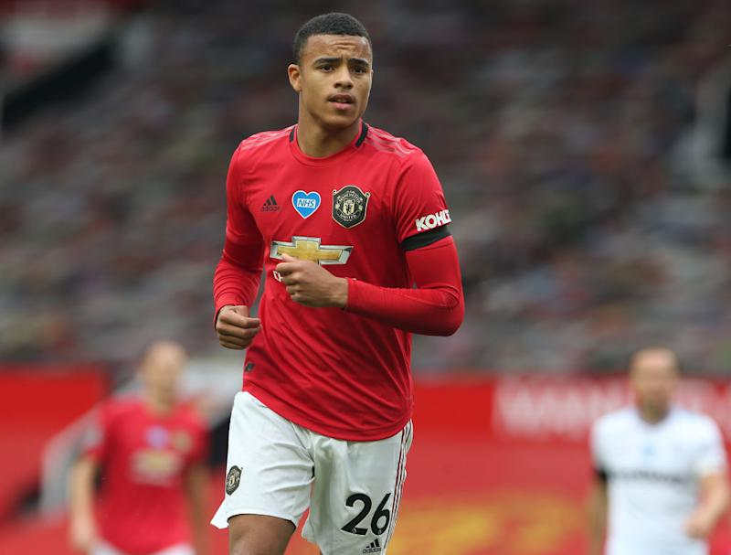 Manchester United forward Mason GreenwoodManchester United via Getty Images