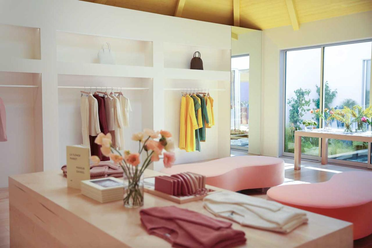 <p>You can shop their full line inside a sun-kissed space in the heart of Los Angeles. It is over 2,500 square foot large and includes an outdoor space with a flower shop, porch, and cafe. (Photo: courtesy of Mansur Gavriel) </p>