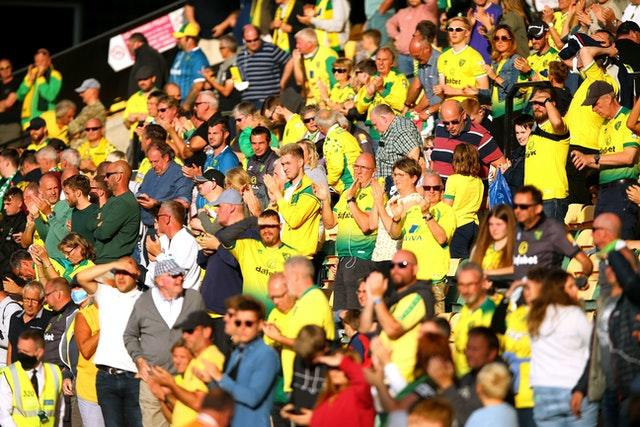 Norwich supporters returned to Carrow Road for the visit of Preston in the Championship