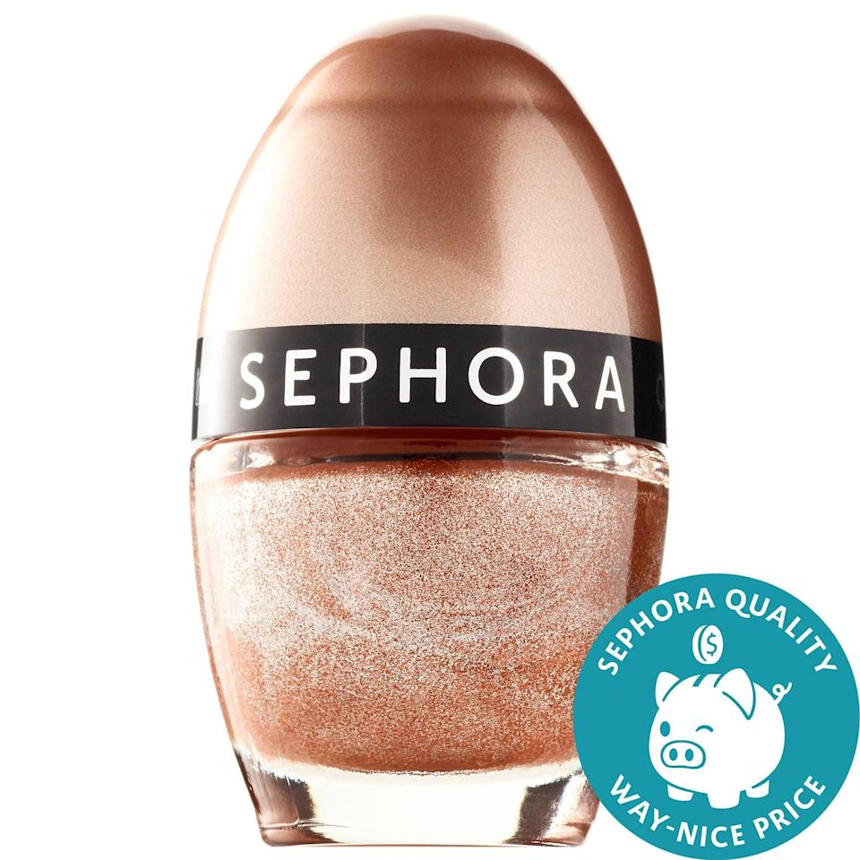 <p>With 55 shades including glitter, shimmer, high-shine, and creme finishes, the biggest problem with the <span>Sephora Collection Color Hit Mini Nail Polish</span> ($5) is picking just one. But, hey, at five bucks a pop, why not pick a few to toss into a stocking?</p>