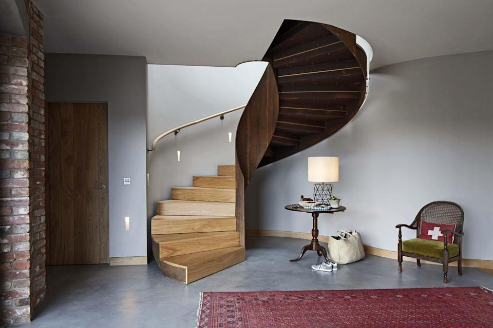 """<p>This studio has amassed an impressive portfolio in the 18 years since Anthony Hudson founded it. From a fort-like villa with a helical staircase (pictured) on the Jersey coastline to a zinc-clad home on the Suffolk saltmarsh, its projects share a sense of drama.</p><p><strong>They say </strong>'We respond to context with a flexible, thoughtful and imaginative approach, to create wonderful places and spaces for people to inhabit.' <a href=""""https://hudsonarchitects.co.uk/"""" rel=""""nofollow noopener"""" target=""""_blank"""" data-ylk=""""slk:hudsonarchitects.co.uk"""" class=""""link rapid-noclick-resp"""">hudsonarchitects.co.uk</a></p>"""