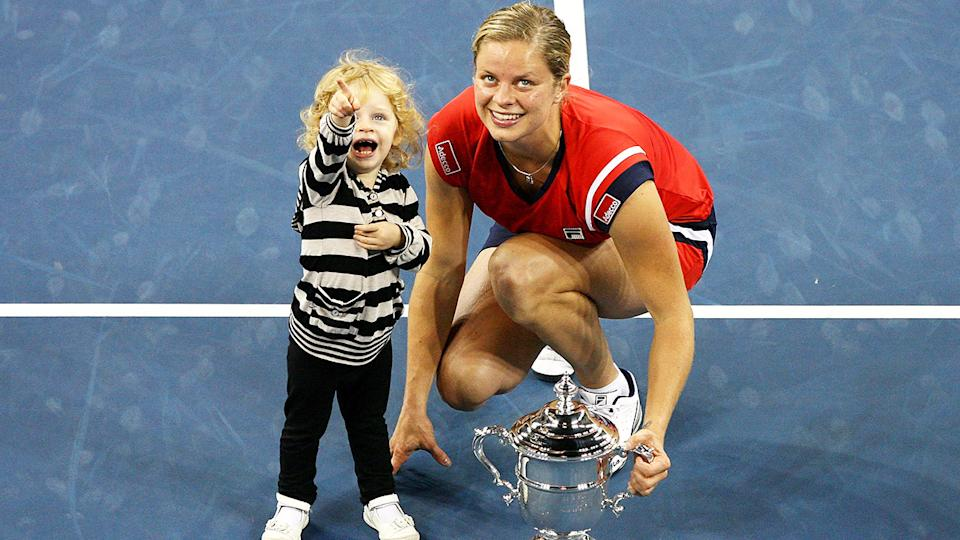 Kim Clijsters, pictured here with daughter Jada after the 2009 US Open final.
