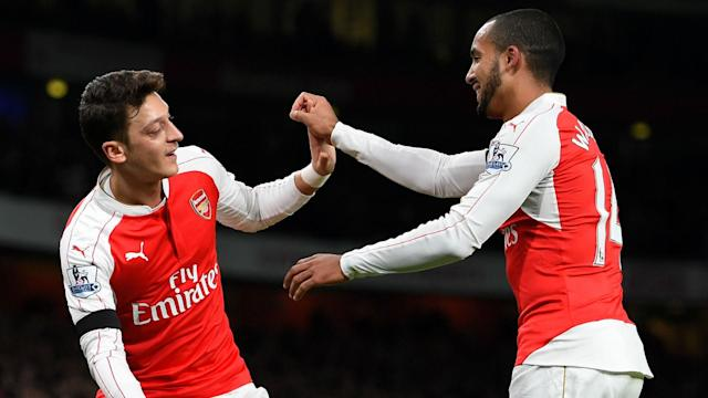 A player of Mesut Ozil's quality will never be kept quiet for long, according to Theo Walcott, who feels the race for a top-four spot is on.