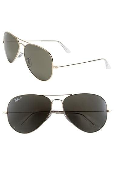 <p>These <span>Ray-Ban Aviator 55mm Sunglasses</span> ($204) will never let you down. They're one of the few styles that look good on pretty much everyone, with pretty much any look. Whether you're wearing a cocktail dress or exercise clothes, these frames will feel right at home.</p>
