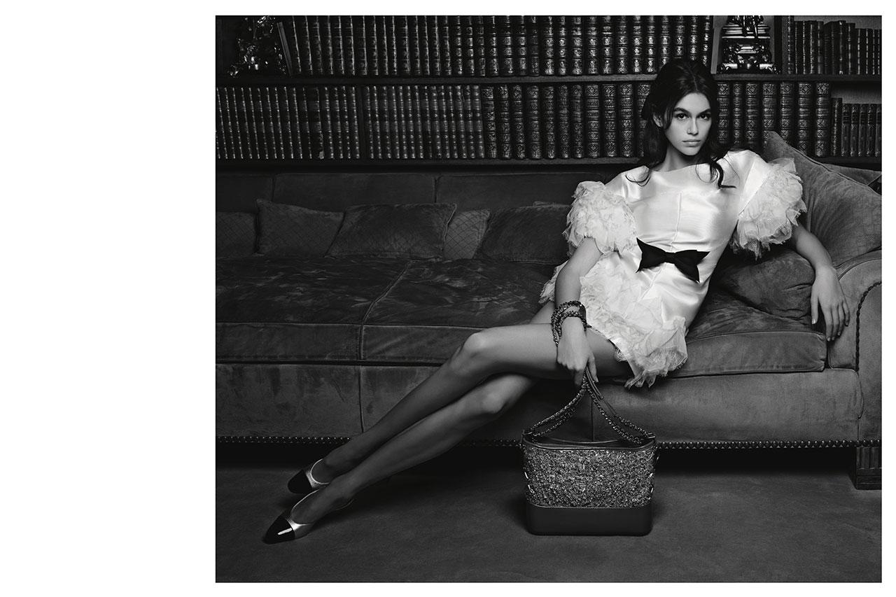 <p><strong>Model: </strong>Kaia Gerber <br /><strong>Photographer:</strong> Karl Lagerfeld <br /> (Photo: Courtesy of Chanel) </p>