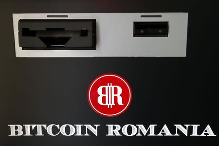 A view of Romania's first bitcoin ATM is seen in downtown Bucharest June 27, 2014. REUTERS/Bogdan Cristel