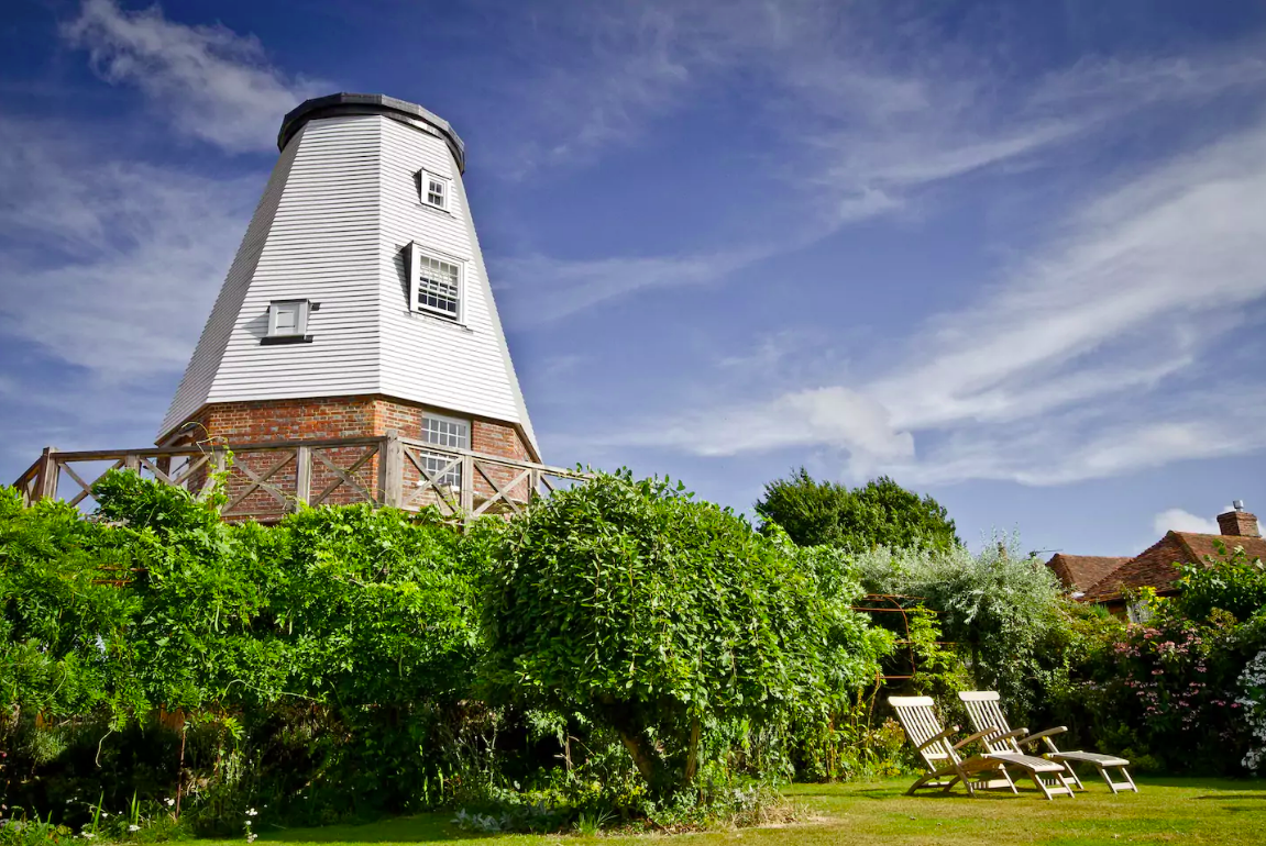 <p>This charming windmill in the Kent countryside of the United Kingdom can be all yours for $296 a night. (Airbnb) </p>