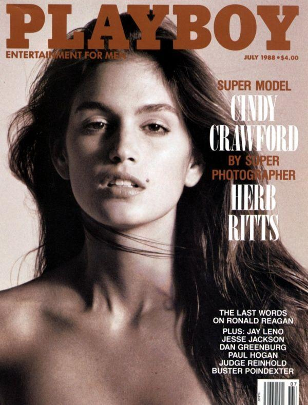 <p><strong>Issue: </strong>July 1988</p><p>Cindy Crawford and her iconically sexy mole covered <em>Playboy</em> in July 1988. </p>