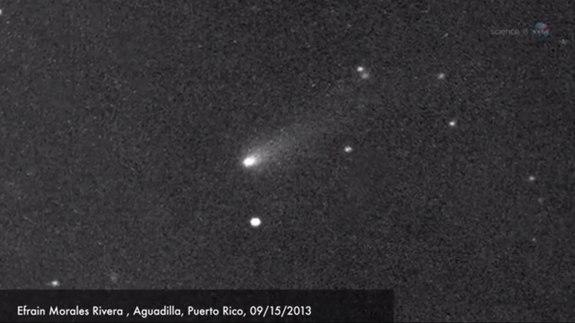 Comet ISON was photographed by Efrain Morales Rivera on Sept. 15, 2013, as seen in this still from a NASA video. Video published Sept. 23, 2013.