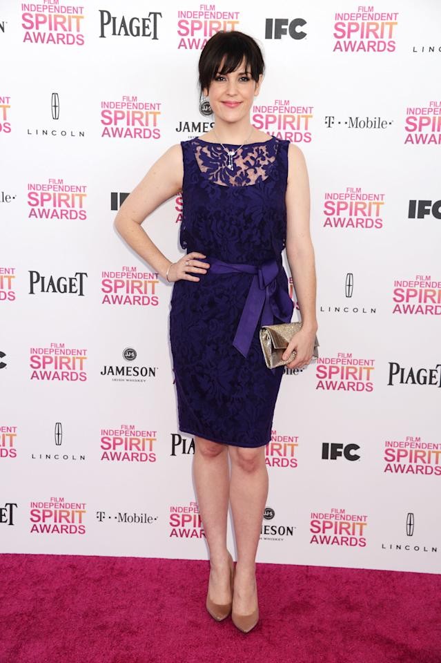 Melanie Lynskey attends the 2013 Film Independent Spirit Awards at Santa Monica Beach on February 23, 2013 in Santa Monica, California.