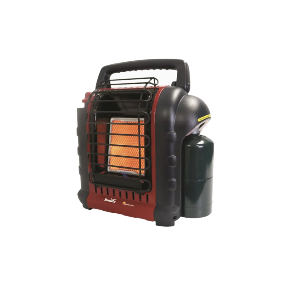 """<p><strong>Mr. Heater</strong></p><p>lowes.com</p><p><strong>$69.97</strong></p><p><a href=""""https://go.redirectingat.com?id=74968X1596630&url=https%3A%2F%2Fwww.lowes.com%2Fpd%2FMr-Heater-9000-BTU-Portable-Radiant-Propane-Heater%2F3353726&sref=https%3A%2F%2Fwww.oprahmag.com%2Flife%2Fg34725803%2Fbest-space-heaters%2F"""" rel=""""nofollow noopener"""" target=""""_blank"""" data-ylk=""""slk:SHOP NOW"""" class=""""link rapid-noclick-resp"""">SHOP NOW</a></p><p>In the garage or basement, opt for something more industrial that can be used both indoors and outside. This propane-fueled option (great for power outages!) fits the bill and has enough wattage to heat those larger, colder spaces efficiently. </p>"""