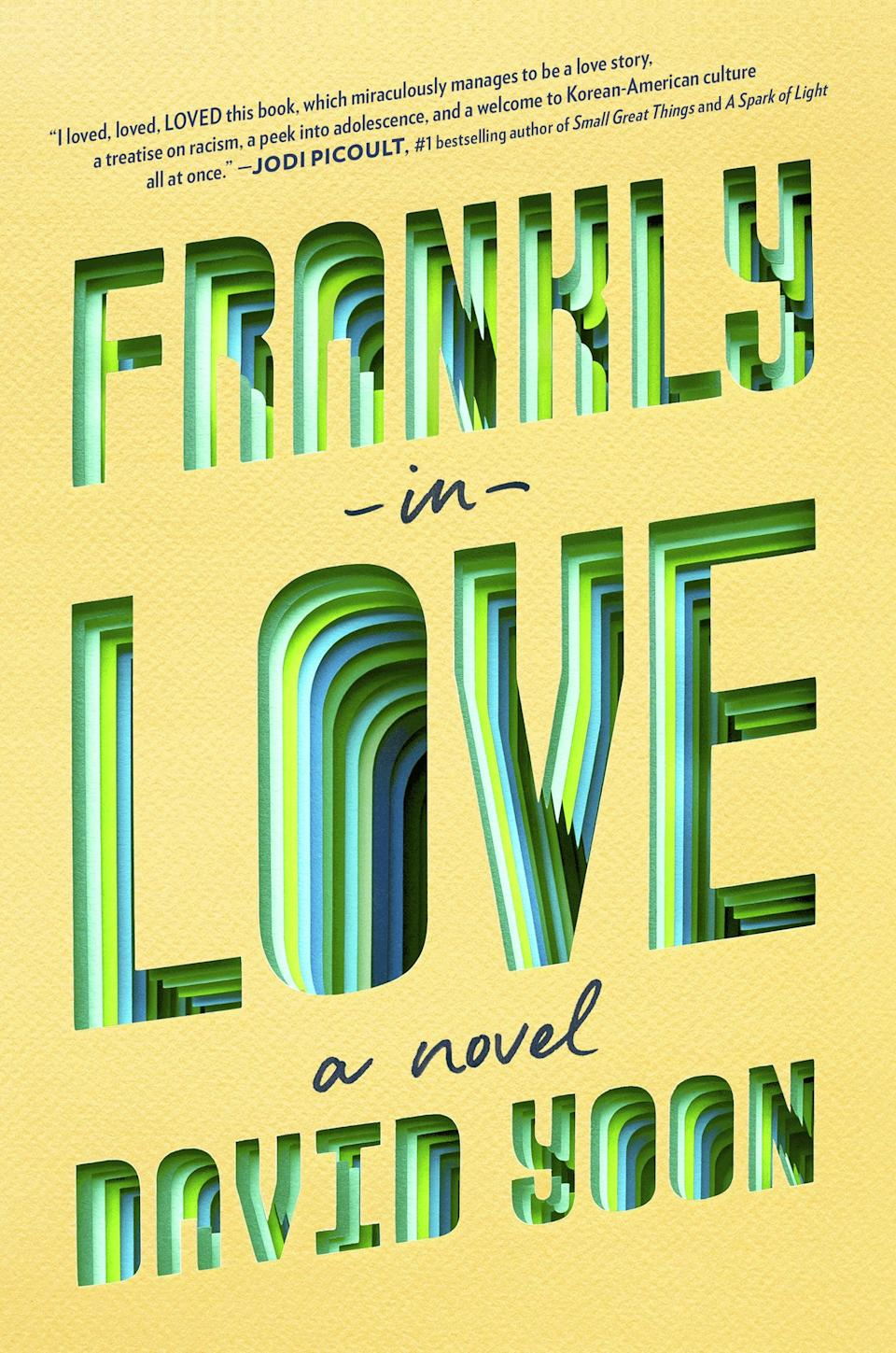 <p>Frank Li has a problem when <strong><span>Frankly in Love</span></strong> by David Yoon begins. He's found the girl of his dreams, Brit - but she's white, and his Korean-American family expects him to end up with a girl from the same background. Desperate, Frank turns to his friend Joy, who's facing a similar predicament, and the two agree to an arrangement to throw their parents off. Of course, nothing works as smoothly as they'd hoped, and Frank is soon faced with more questions than answers about what love really means.</p>