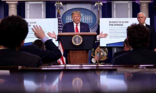 'That's a nasty, snarky question': Trump's media assault rages on in midst of coronavirus crisis