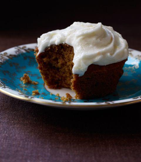 "<p>For the ultimate easy fall dessert, take a can of pure pumpkin and turn it into a batch of moist and creamy cupcakes.</p><p><em><a href=""https://www.goodhousekeeping.com/food-recipes/a11921/pumpkin-spice-cupcakes-orange-sour-cream-frosting-recipe-124672/"" rel=""nofollow noopener"" target=""_blank"" data-ylk=""slk:Get the recipe for Pumpkin Spice Cupcakes with Orange Sour Cream Frosting »"" class=""link rapid-noclick-resp"">Get the recipe for Pumpkin Spice Cupcakes with Orange Sour Cream Frosting »</a></em> </p>"