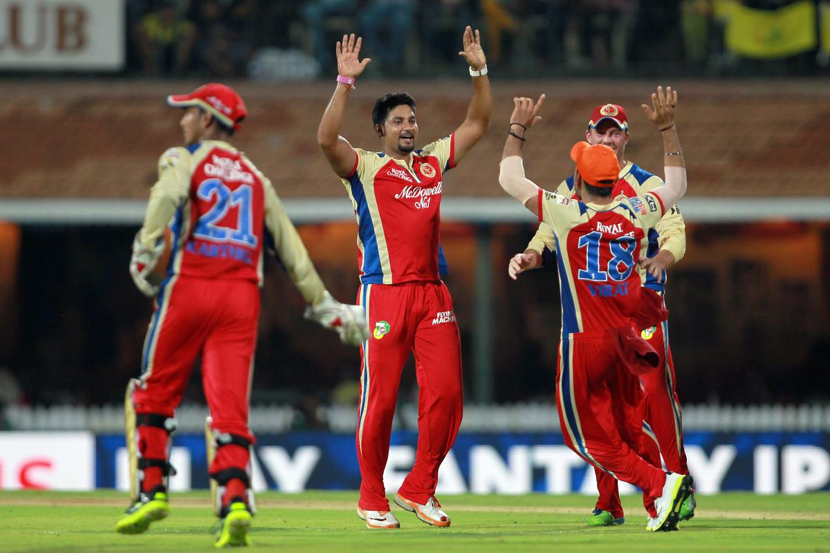 Ravi Rampaul celebrates the wicket of Murali Vijay during match 16 of the Pepsi Indian Premier League between The Chennai Superkings and the Royal Challengers Bangalore held at the MA Chidambaram Stadiumin Chennai on the 13th April 2013. Photo by Jacques Rossouw-IPL-SPORTZPICS   .. .Use of this image is subject to the terms and conditions as outlined by the BCCI. These terms can be found by following this link:..https://ec.yimg.com/ec?url=http%3a%2f%2fwww.sportzpics.co.za%2fimage%2fI0000SoRagM2cIEc&t=1500728458&sig=tEXe7.fUKJT0JzsZQiQuIg--~C