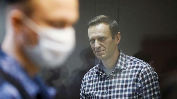FILE PHOTO: Russian opposition politician Alexei Navalny attends a hearing to consider an appeal against an earlier court decision to change his suspended sentence to a real prison term, in Moscow, Russia February 20, 2021.  (Maxim Shemetov/Reuters)