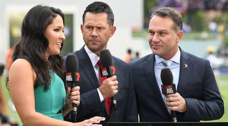 Former Australia players Ricky Ponting and Michael Slater