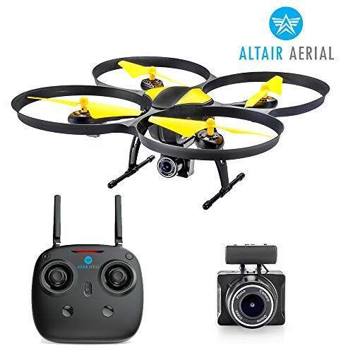 """<p><strong>Altair Aerial</strong></p><p>amazon.com</p><p><strong>$159.80</strong></p><p><a href=""""https://www.amazon.com/dp/B075RFWDN7?tag=syn-yahoo-20&ascsubtag=%5Bartid%7C10055.g.29645332%5Bsrc%7Cyahoo-us"""" rel=""""nofollow noopener"""" target=""""_blank"""" data-ylk=""""slk:Shop Now"""" class=""""link rapid-noclick-resp"""">Shop Now</a></p><p>Drones are the hottest gaming trend in recent years, especially for older kids and teens. This model from Altair Aerial <strong>takes live video while in the air</strong> and flies for 15 minutes on each battery. (It comes with two.) <em>Ages 13+</em></p><p><strong>RELATED:</strong> <a href=""""https://www.goodhousekeeping.com/holidays/gift-ideas/g25225845/best-drones-for-kids/"""" rel=""""nofollow noopener"""" target=""""_blank"""" data-ylk=""""slk:The Best Drones for Kids"""" class=""""link rapid-noclick-resp"""">The Best Drones for Kids</a><br></p>"""