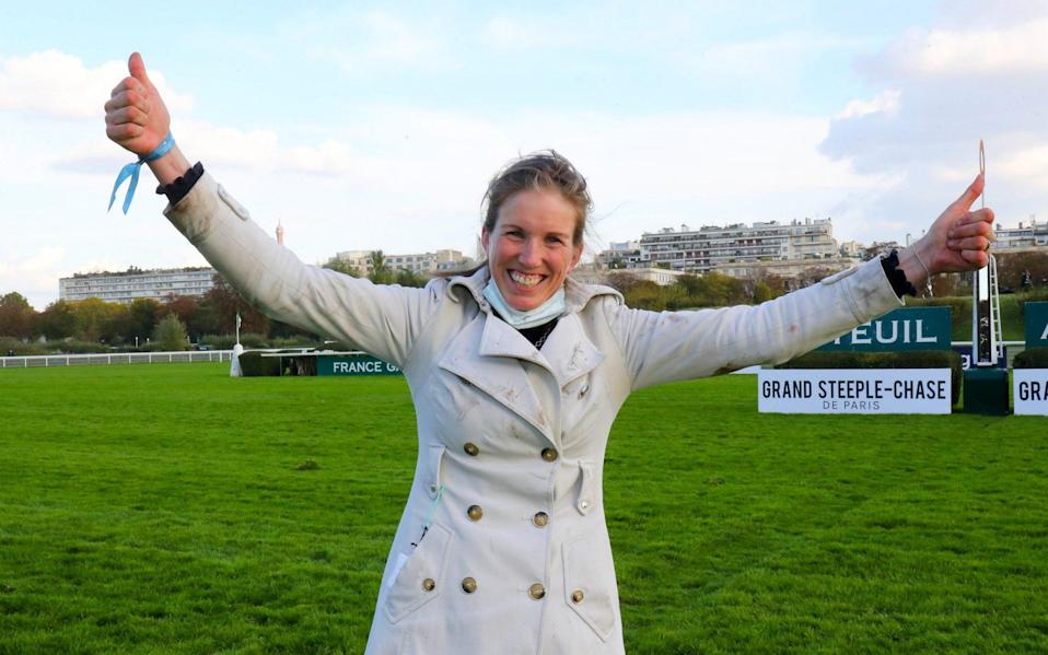 Louisa CARBERRY during the Grand Steeple-Chase de Paris - Icon Sport