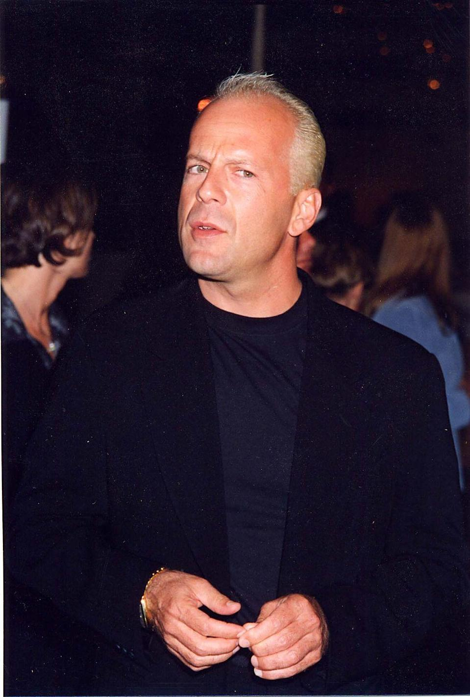 <p>In 1996, Willis surprised fans on the red carpet with a much lighter hair color. The actor dyed his hair platinum blonde for his role in <em>Jackal</em>. </p>