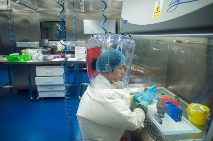 Inside the P4 laboratory in Wuhan, the Chinese biosafety laboratory accused by senior US officials of being at the origin of the coronavirus pandemic. Picture taken in 2017 (AFP Photo/Johannes EISELE)