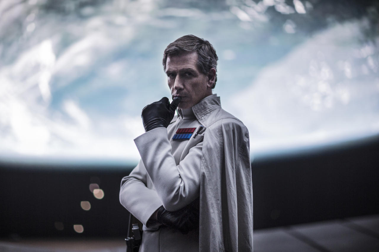 <p>The man in charge of construction is the scheming Director Orson Krennic (Ben Mendelsohn), a prime rival of Tarkin's. He believes there is only one person who can make the superlaser super. (Photo: Lucasfilm) </p>