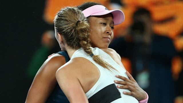"After edging out Petra Kvitova in a stunning Australian Open final, Naomi Osaka said she was ""honoured"" to have played against the Czech."