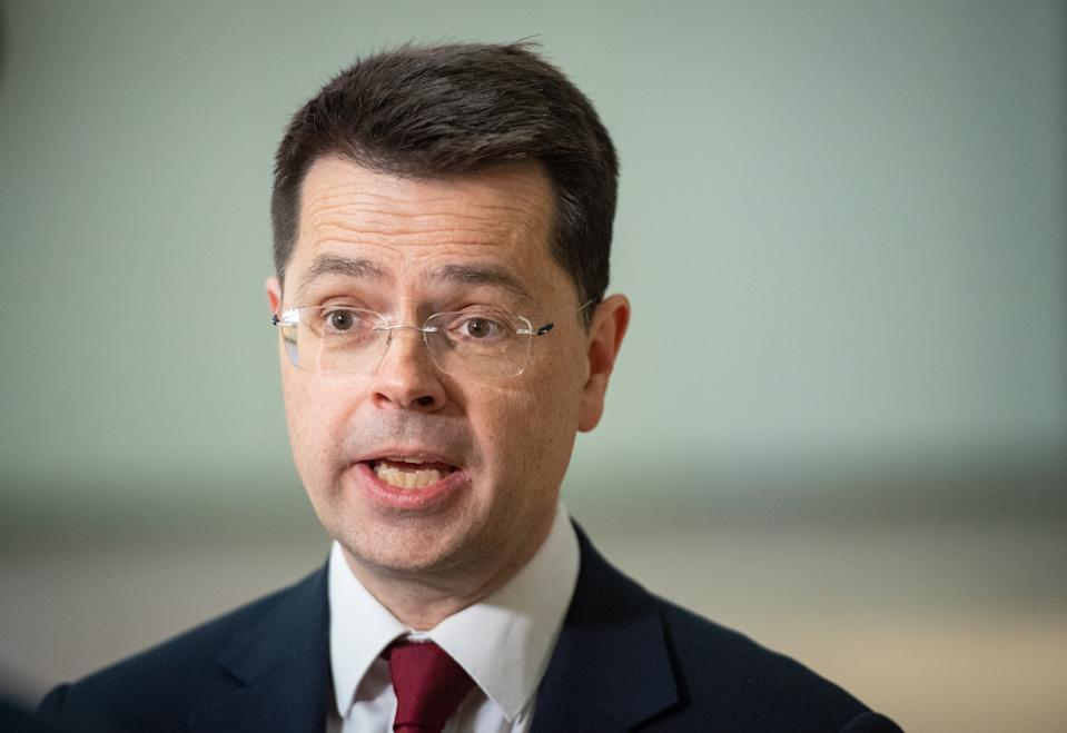 Security Minister James Brokenshire speaks to the media at the 02 Arena, in Greenwich, London, during a visit to view security measures at large public venues. (Photo by Dominic Lipinski/PA Images via Getty Images)