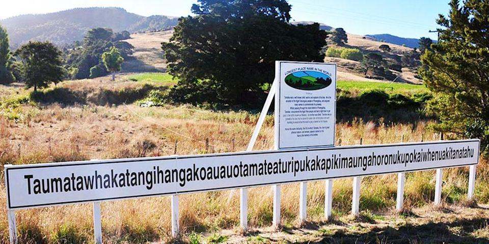 """<p>And now for the grand finale (drum roll please) ... Taumatawhakatangihangakoauauotamateaturipukakapikimaungahoronukupokaiwhenuakitanatahu<span class=""""redactor-invisible-space"""">. If you come across this 85-letter name for a hill in Hawke Bay, New Zealand, you better be <a href=""""http://www.goodhousekeeping.com/home/craft-ideas/g3813/diy-crafts-instagram-photos/"""" rel=""""nofollow noopener"""" target=""""_blank"""" data-ylk=""""slk:Insta-ready"""" class=""""link rapid-noclick-resp"""">Insta-ready</a>! The hill has gained a good amount of fame for being the longest named place found in any English-speaking country. It translates roughly to, """"The summit where Tamatea, the man with the big knees, the slider, climber of mountains, the land-swallower who travelled about, played his nose flute to his loved one"""" — obviously.</span></p><p><em>photo: </em><a href=""""https://www.flickr.com/creativecommons/"""" rel=""""nofollow noopener"""" target=""""_blank"""" data-ylk=""""slk:Flickr Creative Commons"""" class=""""link rapid-noclick-resp""""><em>Flickr Creative Commons</em></a></p>"""