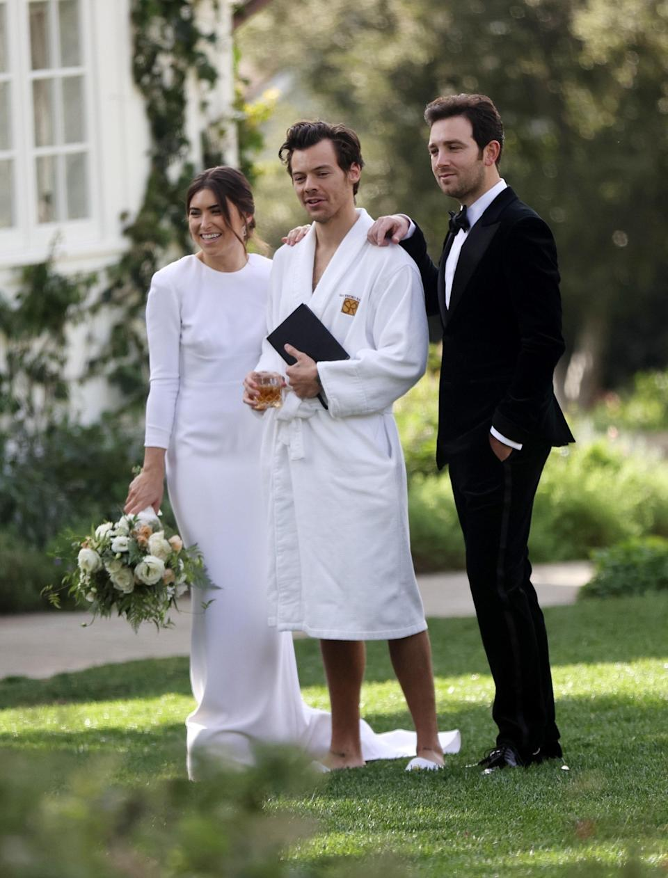 Harry Styles at his agent's wedding in Montecito, January 2, 2021.