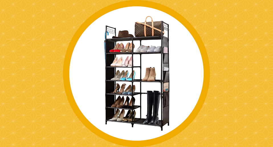 Sales of this space-saving shoe rack were surged 58,000% on Amazon Canada.