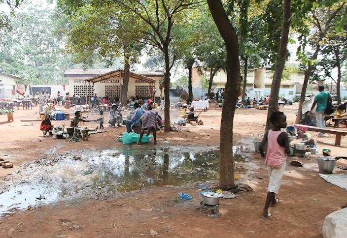 The Saint-Saveur camp where more than 1,000 people took refuge following violence in Bangui (AFP Photo/Edouard Dropsy)