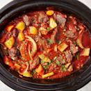 """<p>If you need an excuse to get your <a href=""""https://www.delish.com/uk/cooking/recipes/g30220431/slow-cooker-recipes/"""" rel=""""nofollow noopener"""" target=""""_blank"""" data-ylk=""""slk:slow cooker"""" class=""""link rapid-noclick-resp"""">slow cooker</a> out, this is it! Let everything cook together for hours for the deepest, most satisfying beef stew you'll try. Don't skip searing the <a href=""""https://www.delish.com/uk/cooking/recipes/g34447871/leftover-beef-recipes/"""" rel=""""nofollow noopener"""" target=""""_blank"""" data-ylk=""""slk:beef"""" class=""""link rapid-noclick-resp"""">beef</a> — it creates more deeply flavoured meat that develops the flavour of the <a href=""""https://www.delish.com/uk/cooking/recipes/g28844124/slow-cooker-beef-stew/"""" rel=""""nofollow noopener"""" target=""""_blank"""" data-ylk=""""slk:stew"""" class=""""link rapid-noclick-resp"""">stew</a> even further. </p><p>Get the <a href=""""https://www.delish.com/uk/cooking/recipes/a28830324/slow-cooker-red-wine-beef-stew-recipe/"""" rel=""""nofollow noopener"""" target=""""_blank"""" data-ylk=""""slk:Slow Cooker Red Wine Beef Stew"""" class=""""link rapid-noclick-resp"""">Slow Cooker Red Wine Beef Stew</a> recipe.</p>"""