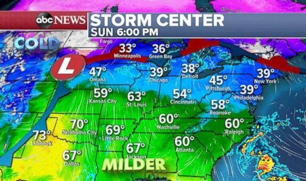 PHOTO: Temperatures are completely flipped from last week in the Midwest. (ABC News)