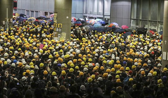 Protesters storm Hong Kong's Legislative Council Complex on July 1. Photo: Dickson Lee