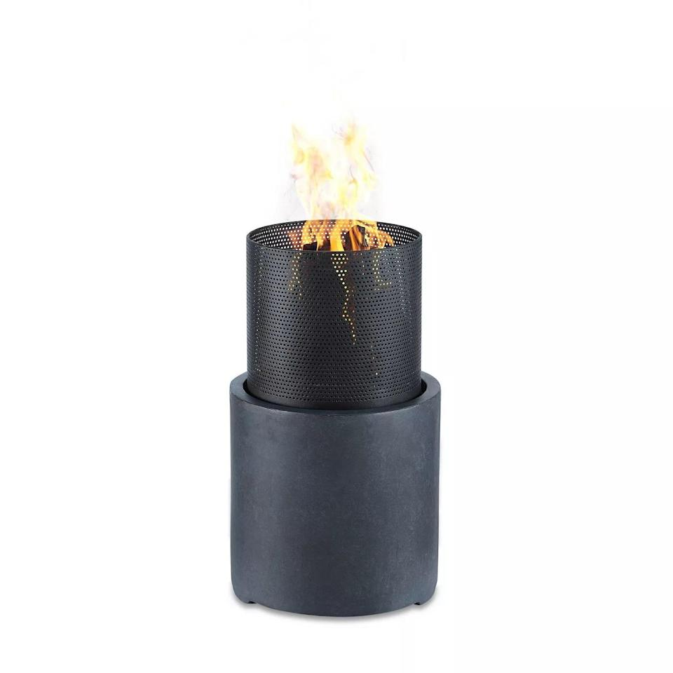 Outdoor Wood Burning Faux Stone Column Fire Pit, best metal fire pits